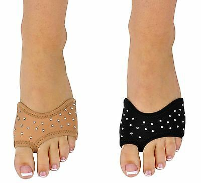 Dance Foot Thongs Foot undies BEIGE OR BLACK DIAMONTE