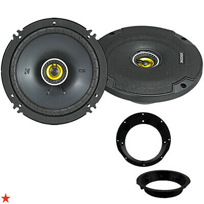 "Kicker 6.5"" Inch Car Motorcycle Atv Speakers For Harley Davidson W Adapter Kit"