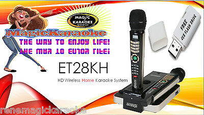 NEW ET28K  EnterTech Magic Sing 5145 Tagalog/English songs HDMI  2 Wireless mic