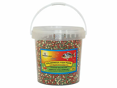 120g Tub Floating Pellets Aquarium Goldfish Pond Fish Food Golden Pet
