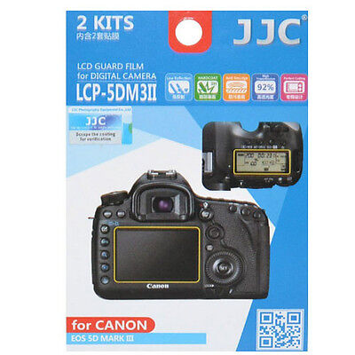 JJC LCP-5DM3II LCD Film Camera Screen Display Protector for Canon 5D Mark 3 III