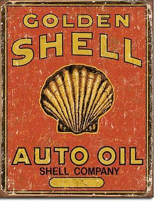 New Sign Golden Shell Auto Oil  Metal Signs Combined Postage For 2+