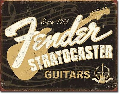 New Sign Fender Stratocaster Guitars Metal Signs Combined Postage For 2+