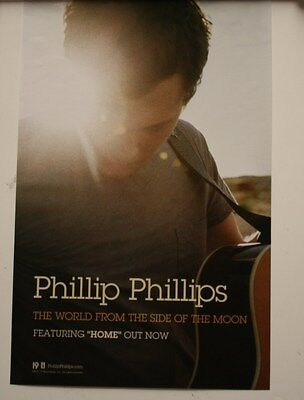PHILLIP PHILLIPS 2012 POSTER NEW ALBUM THE WORLD FROM THE SIDE OF THE MOON