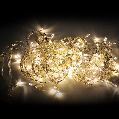 Warm White 220V 100 LED 10M 32ft String Fairy Lights fr Christmas Party Wedding