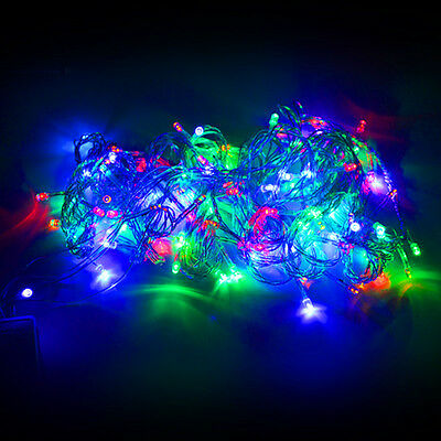 Multi-color 220V 100 LED 10M 32ft String Fairy Lights fr Christmas Party Wedding