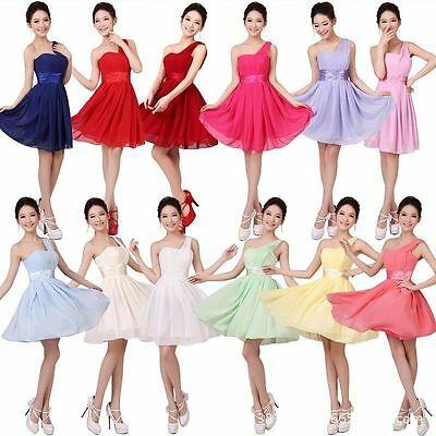 New Women Chiffon Party Evening Wedding Bridesmaid Prom Ball Short Dress Formal