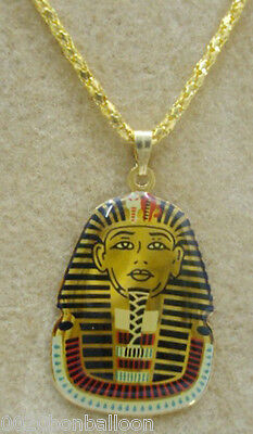 Egypt king Tut Necklace Pendant Ankh Ancient Pharaoh Egypt Jewelry Handmade  102