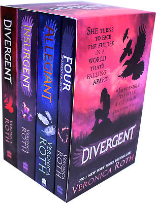 Veronica Roth Divergent Series Insurgent Allegiant 4 Books Collection Box Set