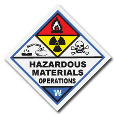 Hazardous Materials Operations Haz Mat Firefighter Reflective Decal Sticker