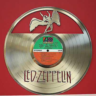 Led Zeppelin - Laser Cut Gold LP Record Rare Limited Edition - Free Shipping USA