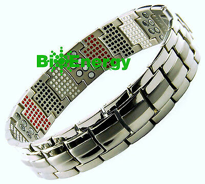 Anion Magnetic Energy  Power Bracelet Health 4in1 Bio Armband TITANIUM