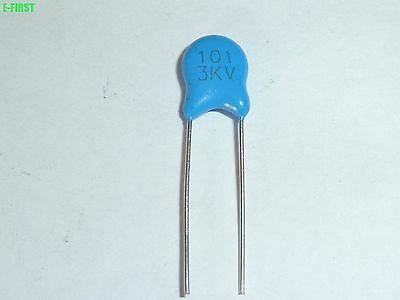 US Stock 5pcs High Voltage Ceramic Disc Capacitors 820pf 0.82nf 821 20000V 20KV