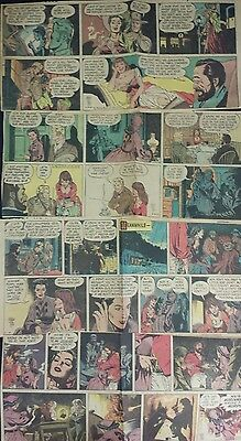 Lot of 4 Casey Ruggles Color Comic Strips By Warren Tufts Feb/March 1954