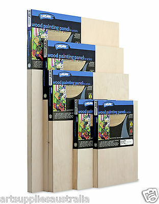 Derivan Wood Painting Panels for Artists of 6 sizes