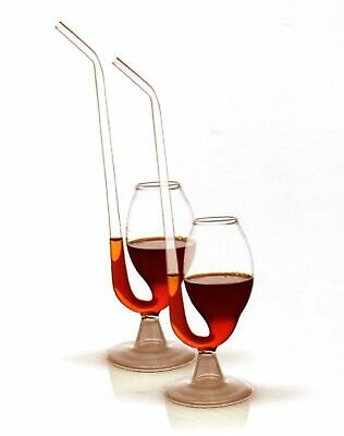 PORT PIPES SIPPERS Set 2 Glass Decanter Gift Boxed White Red Wine Pipe Sipper