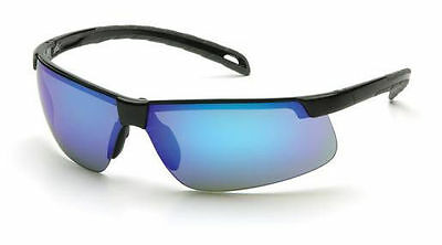 Pyramex Ever Lite Safety Glasses Ice Blue Mirror Polycarbonate Lens Outdoor ANSI