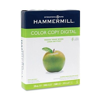 Hammermill Copier Paper 100 Brightness, 28lb, 8 1/2 x 11, Photo White - 500/Ream
