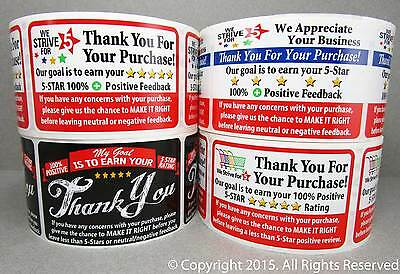 100 eBay Thank You For Your Purchase Shipping Labels Stickers 2x3 Sample 25 each