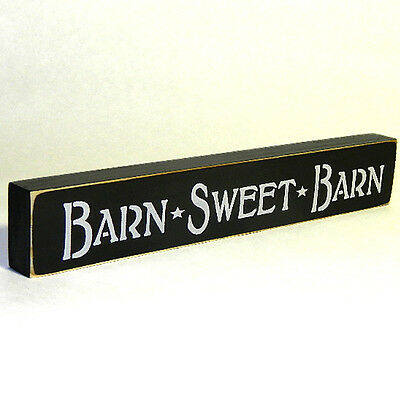 Barn * Sweet  * Barn Wooden Sign - Shelf Sitter - 21 Colors to Choose From!