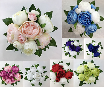 Artificial Silk Flower Peony Flowers Wedding Bouquet cintahomedeco