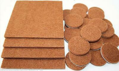Felt Self Adhesive Pads Protects Wood Vinyl Laminate Floors Mix Pack 8SQ & 48R