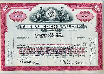 Babcock & Wilcox Company Stock Certificate New Jersey