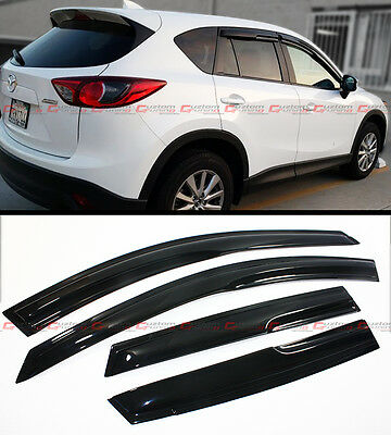 Jdm Mugen 3D Style Smoked Window Visor Vent Shade For 2013-2016 Mazda Cx-5 Cx 5