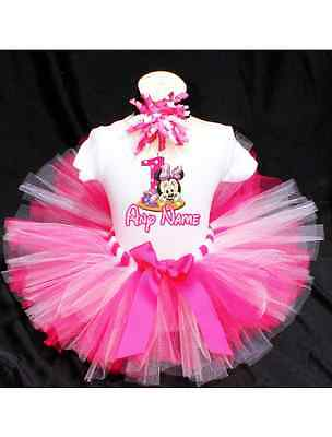Baby Minnie Mouse Birthday Tutu Outfit Birthday Dress Up Custom Any Name