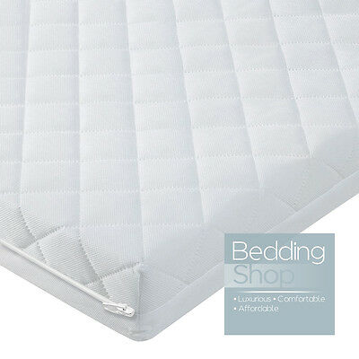 Baby Toddler Foam Cot Bed Mattress Fully Breathable Quilted Cover All Sizes