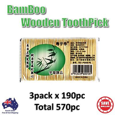 570p Wooden Toothpick Bamboo Wood Pick Stick Cocktail Party Food Craft Tooth