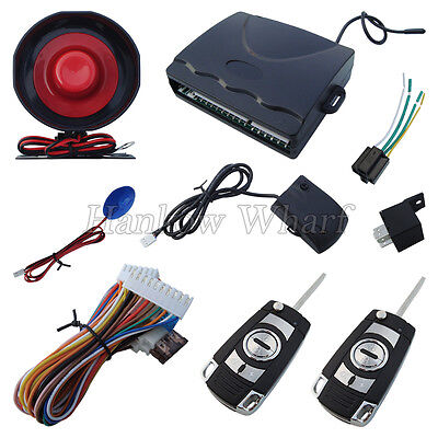 Universal Model Car Alarm System Four Buttons Remote Transmitters With Flip Keys