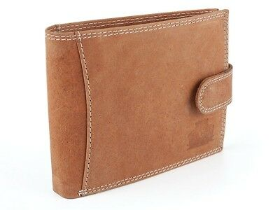 Mens Wallets High Quality Real Leather Bifold Brown Credit Cards