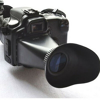V2 2.8X Magnifier Extender Camera Hood LCD Viewfinder For Canon 550D 5DIII New