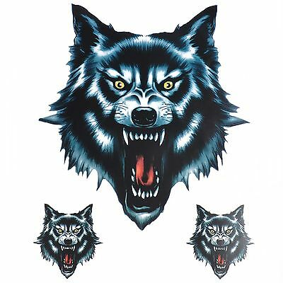 Wolf Head Sticker/Decal Set For Motorcycle Motorbike #3