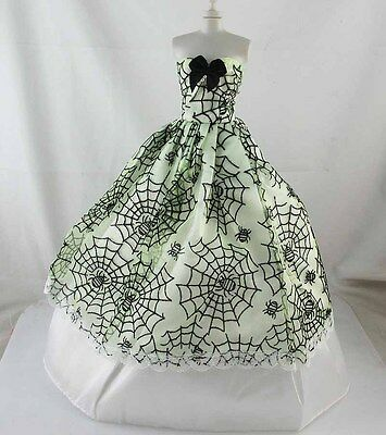Coif+Glove+Handmade Wedding Clothes/Dress/Gown For Barbie Doll