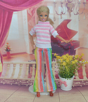 Handmade Party Clothes Fashion Dress for Noble Barbie Doll tao2