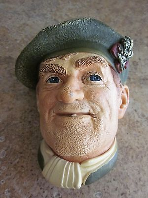 Vintage Bossons 'Jock' Chalkware Head - Wall Hanging - 1969 - England
