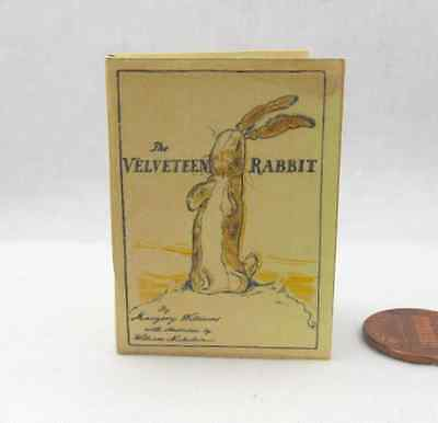 THE VELVETEEN RABBIT Book 1:6 Scale Readable Illustrated Miniature Book