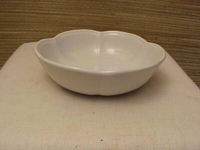 McCoy Pottery #7528 Serving Appetizer Bowl Off White Blue under Tint Made USA