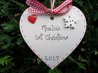 PERSONALISED BABY'S FIRST 1st CHRISTMAS TREE DECORATION  BAUBLE