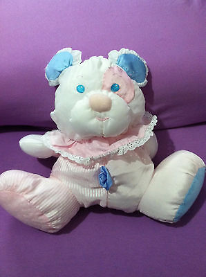 Vintage 1988 Fisher Price Puffalumps Puppy Plush With Rattle VHTF