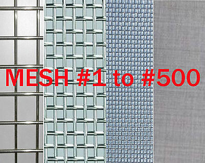 "T304 Stainless Steel Coarse Dense Gauze Woven Mesh #5 to #500,width 3"" to 20"" VA"