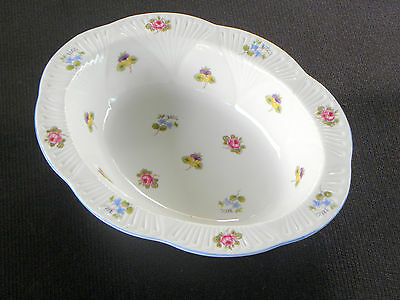SHELLEY BONE CHINA DAINTY SHAPE ROSE, PANSY FORGET-ME-NOT OVAL SERVING DISH