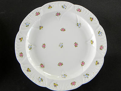 "SHELLEY BONE CHINA DAINTY SHAPE ROSE, PANSY FORGET-ME-NOT 13"" CHOP PLATE read .."