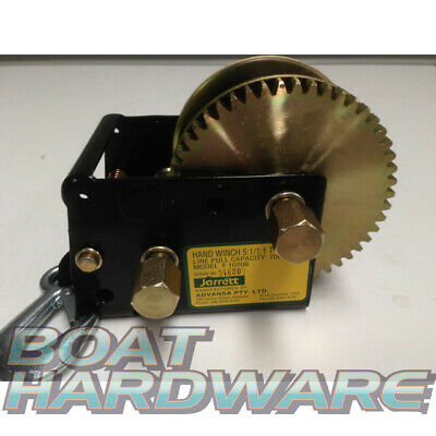 Jarrett TRAILER HAND WINCH 5:1 / 1:1 6M STRAP 700KG pulling Up to 6Mtr Boats