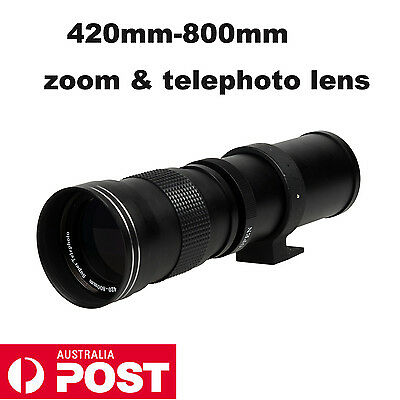 420-800mm telephoto zoom lens for Canon 1100D 550D 650D Nikon D3200 D90 f8.3-16