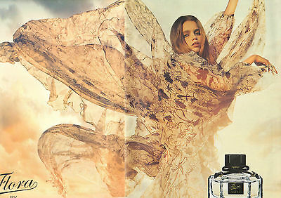 Publicité Advertising 2009  (double page)  parfum Flora by GUCCI