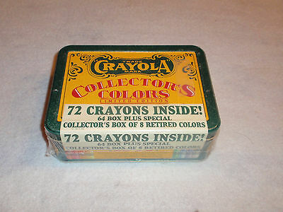 Crayola Collector's Colors Limited Edition Tin / 72 Crayons Factory Sealed 1991
