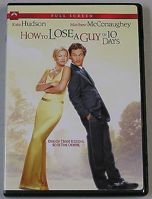 How to Lose a Guy in 10 Days (DVD, 2003, Full Frame)